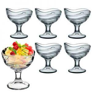 copa de cristal para helados