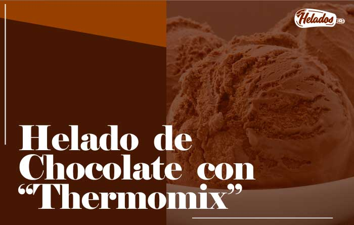 Helado de chocolate con thermomix